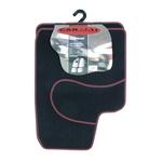 Fussmatte Tri-Colori, schwarz/rot, Universal, 4-teilig