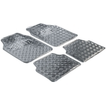Automatte Metallic, 4-teilig, silber