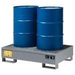 FILCAR Bac de rétention pour 2 fûts OD-ST-302, 134x85x33 cm, 80kg