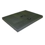 Autop Gummiauflagen 20 mm hoch, Platten mit beidseitiger Riffelung (Satza 4 Stück)