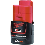 MILWAUKEE M12 B2 Akku 12 V / 2.0 Ah Li-Ion