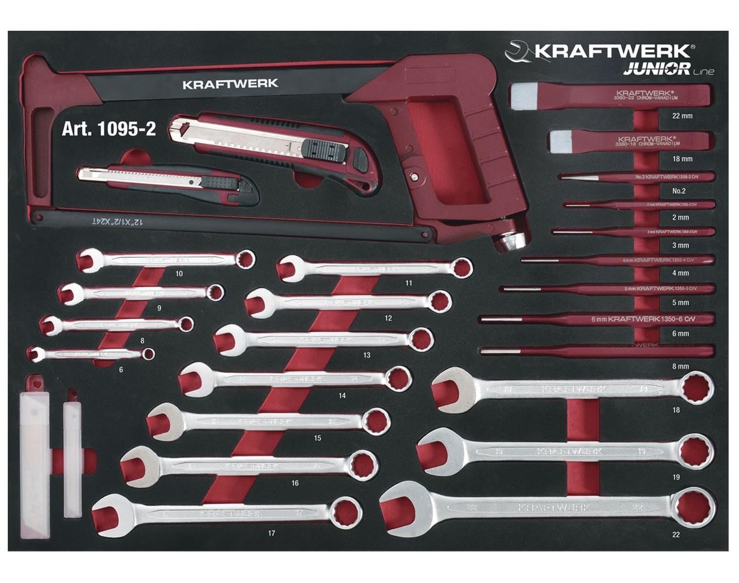 Servante d/'atelier 7 tiroirs 339 outils 1 clé dynamométrique 1//2 Kraftwerk