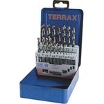 TERRAX Satz geschliffene Spiralbohrer 19-teilig 1-10 mm Abstufung 0,5 mm
