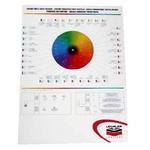 Lechler Poster cerchio cromatico per tinte metallizzate 97442, 1 pz