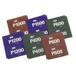 3M Hookit Flexible Handpads 140 × 171 mm, P1000 braun, Pack à 25 Stück