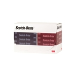 3M Scotch-Brite Durable Flex Hand Pad A very fine, rouge, pack de 25 pièces