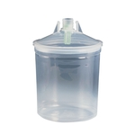 3M PPS bicchieri interni + coperchi, 125 µ, 0.6 litro, pacco da 50 pezzi