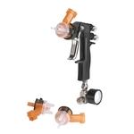 "3M Accuspray Lackier- und Spritzpistole HG14 HVLP, 1 Kit: 1 Pistole, 3 Düsenköpfe 1.4 mm, 1 Manometer"""