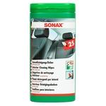 SONAX Tücherbox, ReinigungsTücher Innen + Leder, Box à 25 Tücher