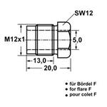 Überwurfschraube für Bremsleitung M12x1