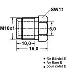Überwurfschraube für Bremsleitung M10x1