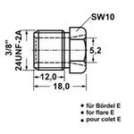 """Überwurfschraube für Bremsleitung 3/8""""-24 UNF-2A"""