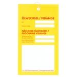 SHELL Etiquettes de service vidange d'huile Rimula