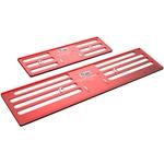 ProFrame 2, Nummernrahmen Set, ProFrame 2, Aluminium, Velocity Red, 30 x 8 cm / 50 x 11 cm
