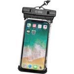 SBS Wasserdichte Hülle für Smartphones bis 5.5 Zoll, mit IPX8-Zertifizierung und Umhängeschnur inklusive, schwarz