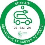 Adesivi ambientali Stick'AIR per il cantone di Ginevra, categoria 0
