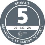 Adesivi ambientali Stick'AIR per il cantone di Ginevra, categoria 5