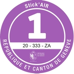 Adesivi ambientali Stick'AIR per il cantone di Ginevra, categoria 1