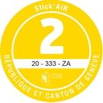 Adesivi ambientali Stick'AIR per il cantone di Ginevra, categoria 2