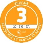 Adesivi ambientali Stick'AIR per il cantone di Ginevra, categoria 3