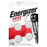 Energizer Pile bouton CR2032 lithium (CR 2032), 3,0 V, (4 sous film blister)