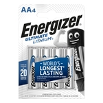 Energizer Batterie Ultimate Lithium, FR6-AA, 1.5 V, Blister-4